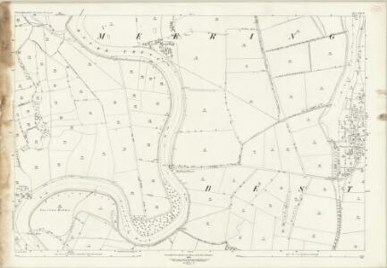Nottinghamshire XXV.8 (includes: Besthorpe; Carlton On Trent; Meering; North Collingham; Sutton On Trent) - 25 Inch Map