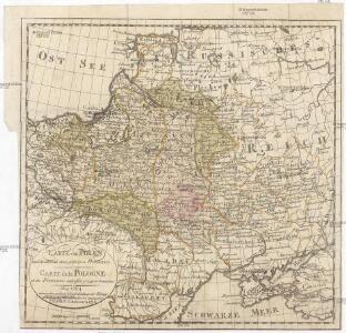 Karte von Polen und den ehemals dazu gehörigen Provinzen
