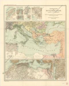 Generalkarte der Mittelmeerländer