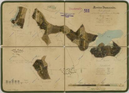 Porostní mapa polesí Domanín 1