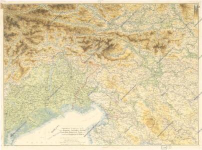 Ravensteins Kriegskarte Nr. 17: Oestl. Dolomiten, Karnische -u. Julische Alpen...