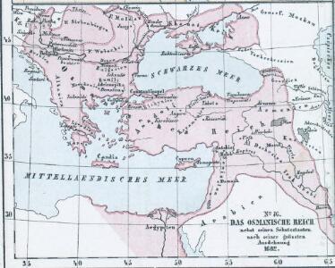 Das Osmanische Reich nebst seinen Schutzstaaten nach seiner grössten Ausdehnung 1682
