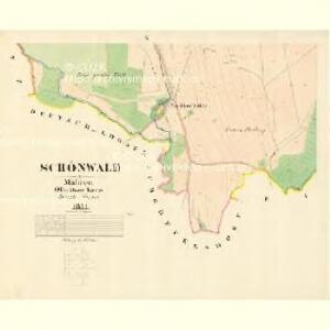 Schönwald - m3073-1-008 - Kaiserpflichtexemplar der Landkarten des stabilen Katasters