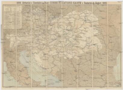 Artaria's Eisenbahn- u. Post-Communications-Karte v. Oesterreich-Ungarn