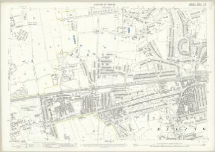 London (Edition of 1894-96) LVI (includes: Ealing St Mary) - 25 Inch Map