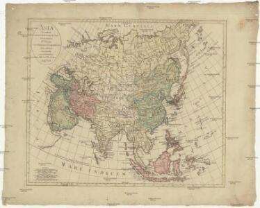 Asia secundum novas celeberrimi de L'Isle proiectiones aliorumque recentissimorum geographorum observationes concinnata