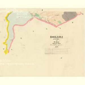 Borzitz (Bořice) - c0414-1-002 - Kaiserpflichtexemplar der Landkarten des stabilen Katasters