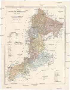 Zemplén vármegye térképe