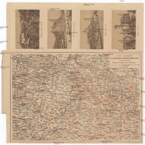 Karte des Netzes der österr. Nordwest- und Süd-Norddeutschen-Verb.-Bahn im nördl. Böhmen