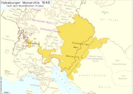 Habsburger Monarchie 1648 nach dem Westfälischen Frieden