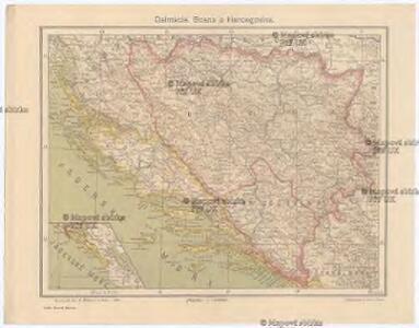 Dalmacie [sic], Bosna a Hercegovina