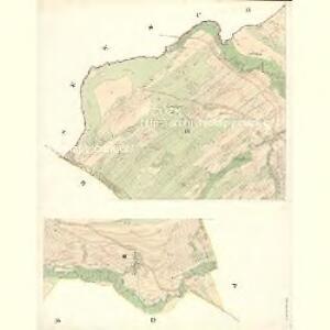 Slawitschin und Mladotitz - m2770-2-002 - Kaiserpflichtexemplar der Landkarten des stabilen Katasters
