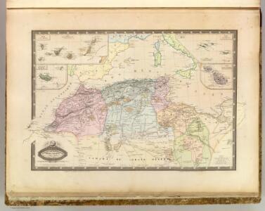 Afrique Septentrionale, Malte, Acores, Madere, Canaries.
