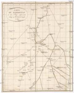 Carte du Kordoufan et des pays adjacents