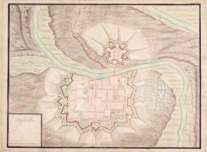 A colored plan of Charleville