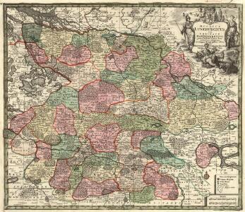 Ducatus Luneburgicus cum Comitatu Dannebergensi juxta Praefecturas suas accurrate designatus et mappa Geographica