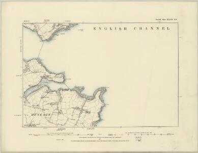 Cornwall LXXIV.NE - OS Six-Inch Map