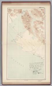 Sheet No. 21.   (Yakutat Bay, Hidden Glacier, Nunatak Glacier, Disenchantment Bay, Lucia Glacier, Ocean Cape, Mt. Tebenkof).