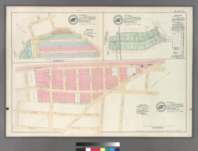 Plate 31: Map No. 325 [Bounded by Road leading from Fordham to West Farms, Jackson Ave., Columbia Ave., Taylor Ave., Road leading from Fordham to West Farms and Orchard Terrace.] - Map No. 317: [Bounded by Berrian Ave., Corsa Ave. and Bronx River.] - Map