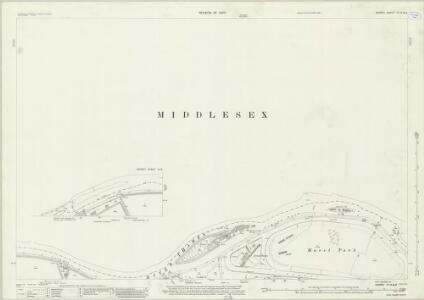 Surrey VI.14 & 13 (includes: Hanworth; Sunbury; Twickenham St Mary The Virgin; West Molesey) - 25 Inch Map