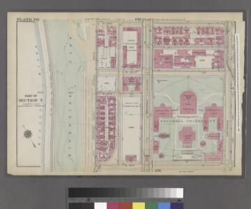 Plate 132: Bounded by W. 122nd Street, Amsterdam Avenue, W. 116th Street and (Harlem River) Riverside Drive.