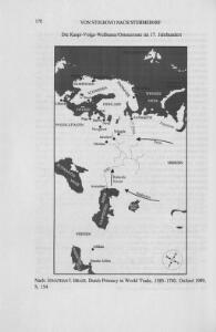 Die Kaspi-Volga-Weißmeer/Ostseeroute im 17. Jahrhundert