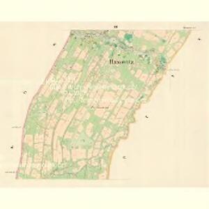 Hazowitz - m0679-1-002 - Kaiserpflichtexemplar der Landkarten des stabilen Katasters