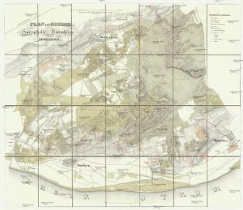Plan der Gegend zwischen Gonzenheim, Budenheim und Mombach