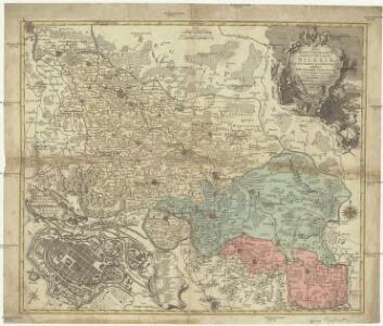 Nova mappa geographica totius Ducatus Silesiae tam superioris quam inferioris exhibens 17 minores principatus et 6 libera dominia