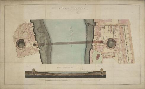 Thames Tunnel. [A Plan and Section]