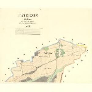 Paterzin - m2234-1-001 - Kaiserpflichtexemplar der Landkarten des stabilen Katasters