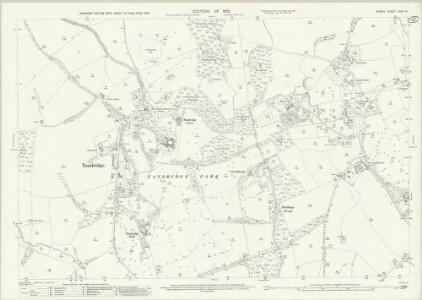 Surrey XXVII.16 (includes: Oxted; Tandridge) - 25 Inch Map
