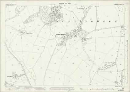 Berkshire VI.14 (includes: Abingdon St Helen Without; Kennington; Radley; Sunningwell; Wootton) - 25 Inch Map