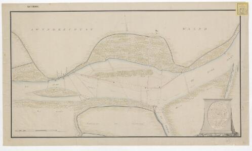 Kaart van het riviervak op den Ouden Maas, genaamd de Lint ...