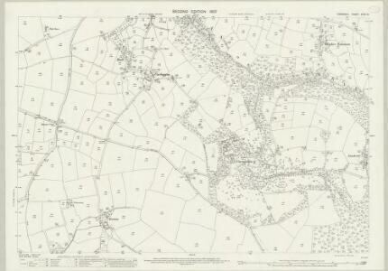 Cornwall XXXII.10 (includes: Mawgan in Pyder; St Columb Major) - 25 Inch Map