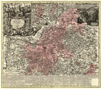 Tabula Geographica Novissima Principalis Episcopatûs Bambergensis