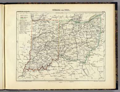 Indiana und Ohio.