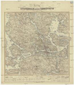 Karta öfver Stockholm och dess omgifning