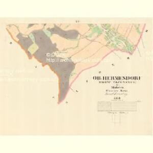 Ober Hermesdorf (Horny Trzemanice) - m0830-1-005 - Kaiserpflichtexemplar der Landkarten des stabilen Katasters