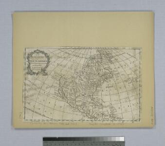 An accurate map of North America from the latest improvements, and regulated by astronomical observations.