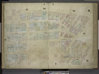 [Plate 9: Map bounded by Pearl Street, Chatham        Street, Chambers Street, Rose Street, Frankfort Street, Murray Street, Church    Street; Including Duane Street, City - Hall Place, Reade Street, Warren Street,  Broadway, Elm Street, Centre Street