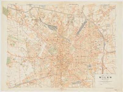 Town plan of Milan (Milano)