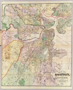Map Of The City Of Boston and its Environs.