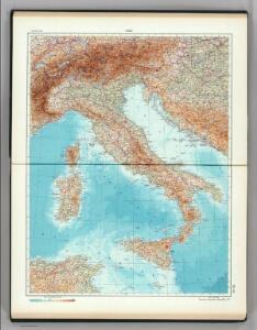 73-74.  Italy.  The World Atlas.