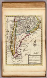 Map of Chili, Patagonia, La Plata, part of Brasil.