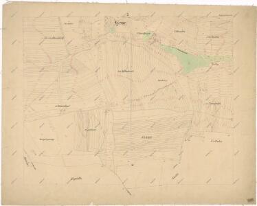 Katastrální mapa obce Výrov WC-VII-17 bi
