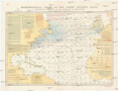 Meteorological chart of the North Atlantic Ocean