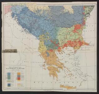 Carte ethnographique de la péninsule des Balkans