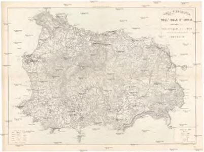Carta topografica dell' isola d'Ischia