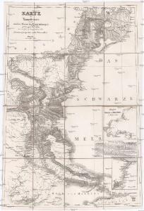 Karte der Hauptstrassen von der niedern Donau bis Constantinopel